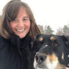 Dr. Hanna Sonek with a dog